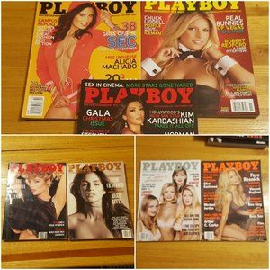 7 Issues Playboy Magazines